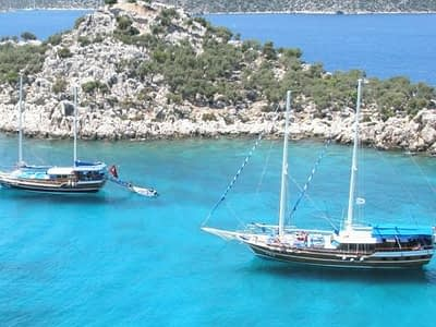 Fethiye To Olympos Cruise 4 Days 3 Nights Cabin Charter Gulet 400x300